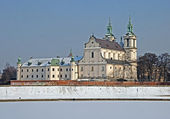 Skalka Sanctuary in winter, Krakow, Poland — Stock Photo