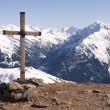 Cross in Alps — Stock Photo