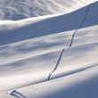 Stock Photo: Off-piste ski track