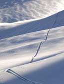 Off-piste ski track — Stock Photo
