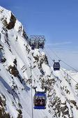 Funivia gondola nelle alpi — Foto Stock