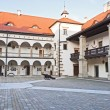 Niepolomice Castle courtyard — Stock Photo