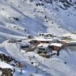 Ski station at Hintertux Glacier - Stock Photo