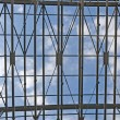 Sky through metal truss - Stock Photo