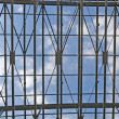 Sky through metal truss — Stock Photo