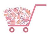 Symbol of the children's goods — Stock Vector