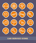 Car service icons on stickers — Stock Vector