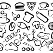 Simple icons of food - Stock Vector