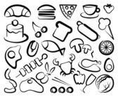 Simple icons of food — Stock Vector