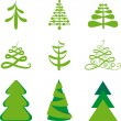 Pelz-Bäume — Stockvektor