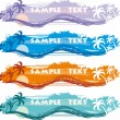 Tropical Banner - Stock Vector