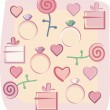 Valentines background — Stock Vector