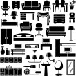 Furniture icons — Stock Vector #9354797