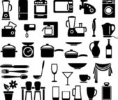 Kitchen ware and home appliances — Stock Vector