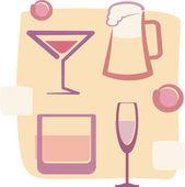 Illustration of Drinks — Stock Vector