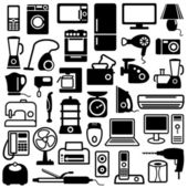 Home appliances icons — Stock Vector