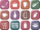Kuchyňské nádobí — Stock vektor