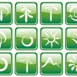 Stock Vector: Buttons with ecological symbols