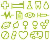 Medical symbols — Stock Vector