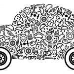 voitures et pièces détachées — Vecteur #9405926