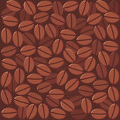 Coffee beans background — Stock Vector