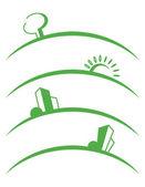 Symbols of skyline — Stock Vector