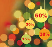 Background of Christmas sale — Stock Vector