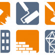 Construction icons — Stockvectorbeeld