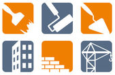 Construction icons — Vector de stock