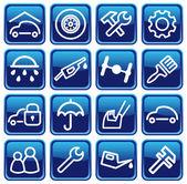 Automobili e ricambi — Vettoriale Stock