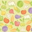 Seamless vegetable background — Stock Vector