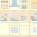 Kitchen background — Stock Vector