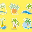Tropical stickers - Stock Vector