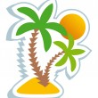 Tropical symbol — Stock Vector