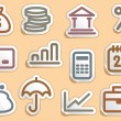 Finance and Banking icons set — Stock Vector