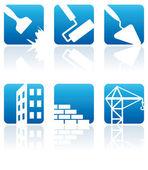 Konstruktion ikoner — Stockvektor
