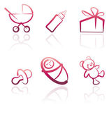 Baby icon set — Stock Vector