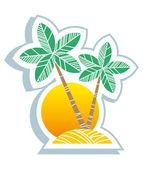 Symbole tropical — Vecteur