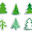 Stock Vector: Christmas fur-trees