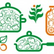 vegetarian food&quot — Stock Vector