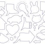 Doodle sketch speech bubbles — Stock Vector #9528370