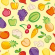 Background with vegetables and fruit — Stock Vector