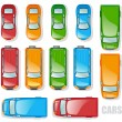 Cars and minibuses - Stock Vector