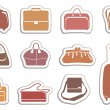 Bags and suitcases stickers — Stock Vector #9529497