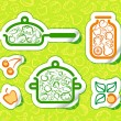 Vegetarian food - Stock Vector