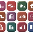 Stock Vector: House icon collection