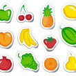 Fruit on stickers — Stock Vector