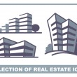 Real estate icons — Stock Vector #9529793