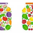 Tinned vegetables and fruit — Stock Vector #9529911