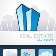 Real estate background, — Stock Vector